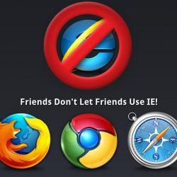 Warning internet explorer